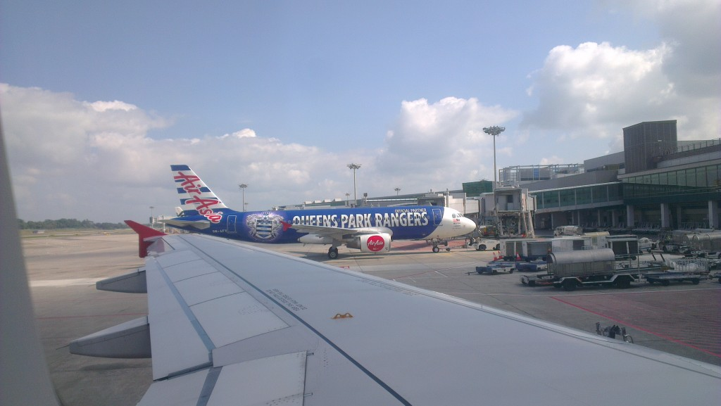 Air Asia Queens Park Rangers livery in Singapore