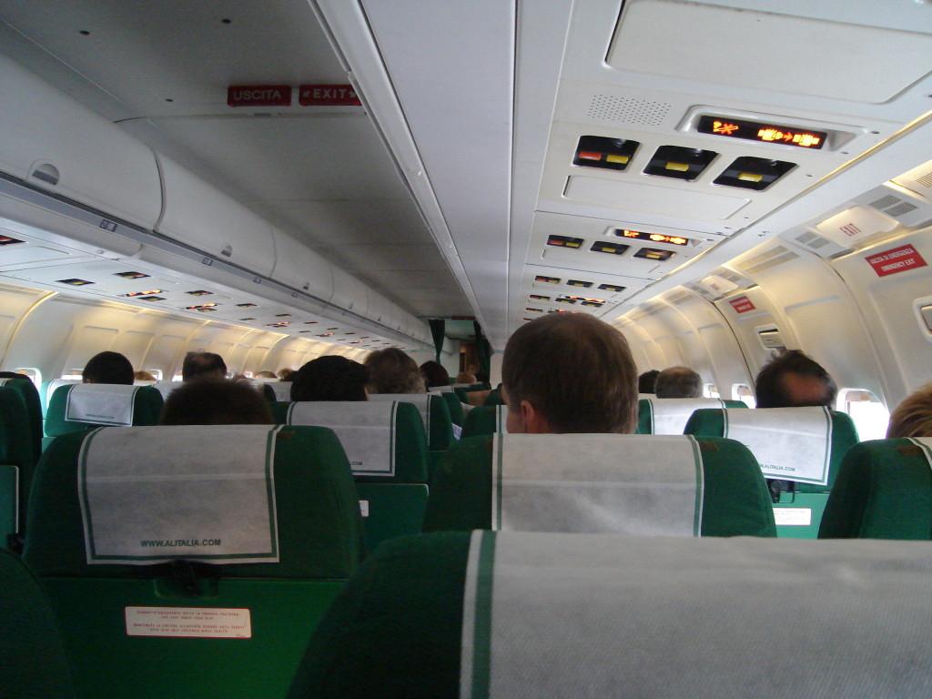 Interiorul unui avion de tip MD-82 - McDonnell Douglas
