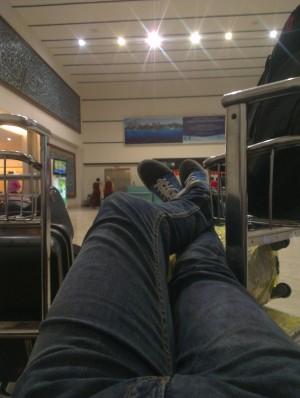 Plictiseala in Aeroportul din Jakarta