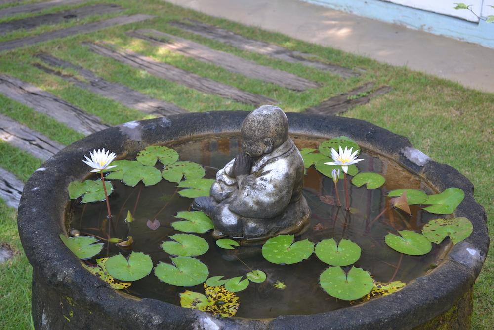 Bali statueta si nuferi