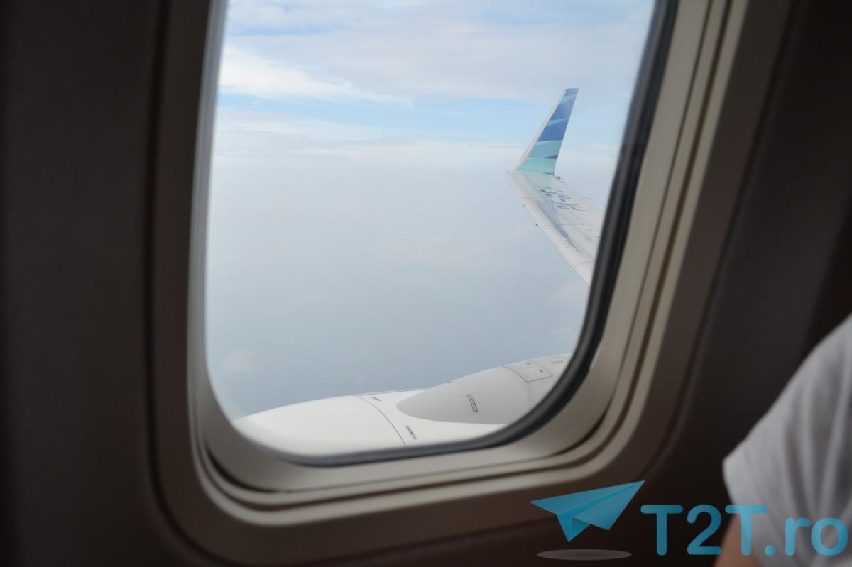 Pe zborul de intoarcere cu Garuda Indonesia spre Jakarta