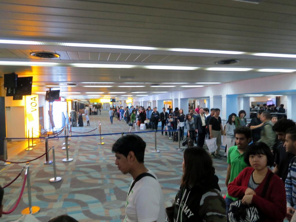 Jakarta Airport Visa Que