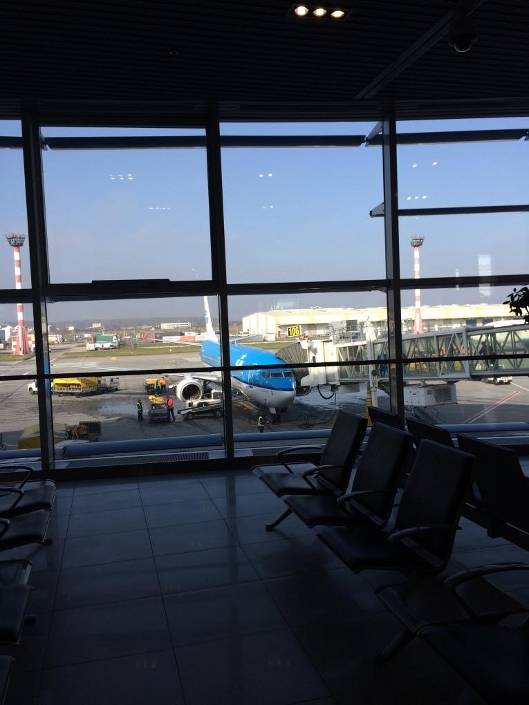 Imbarcarea pe aeroportul Otopeni - Bucuresti spre Amsterdam