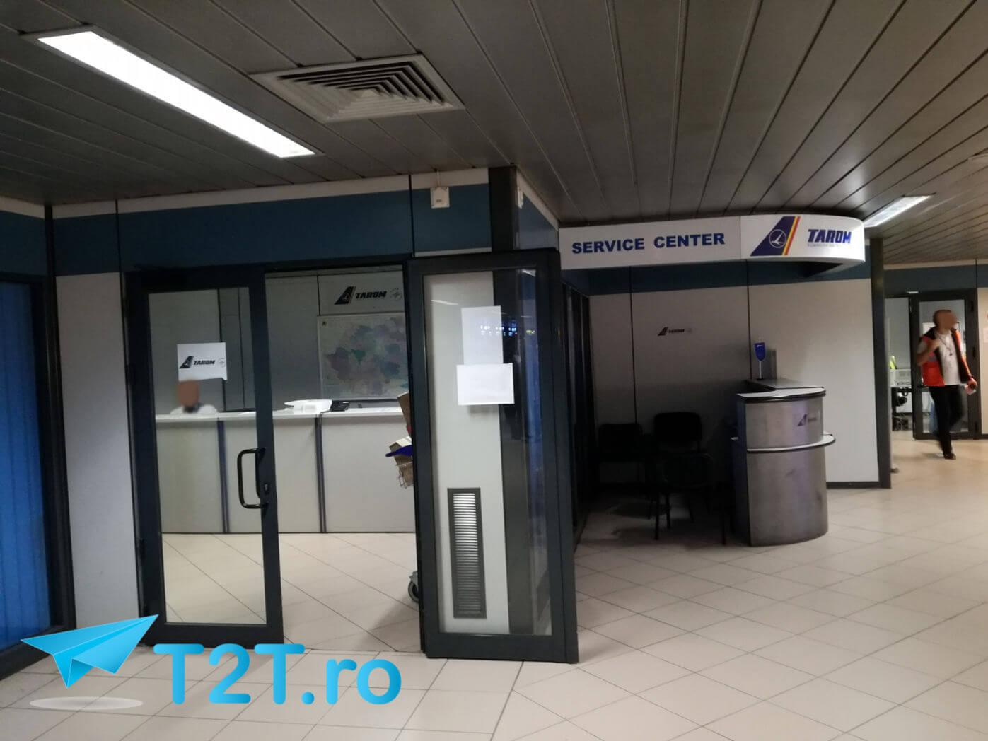 Ghișeu TAROM bagaje pierdute Aeroport București Henri Coandă Otopeni - Sosiri
