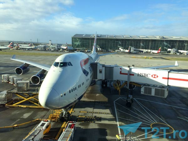 Boeing 747-400 British Airways pe aeroportul din Londra - Heathrow
