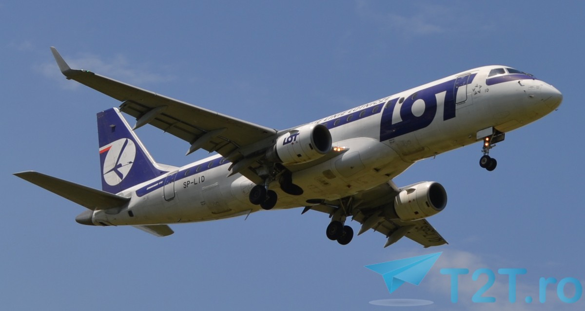 LOT Embraer 175LR SP-LID @ Otopeni Henri Coanda Bucharest Airport