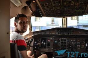 Prima ocazie în care am intrat în cabina piloților!