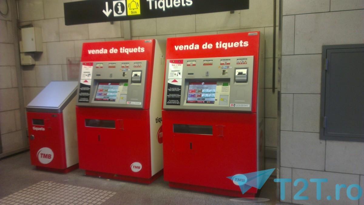 Automate bilete metrou Barcelona