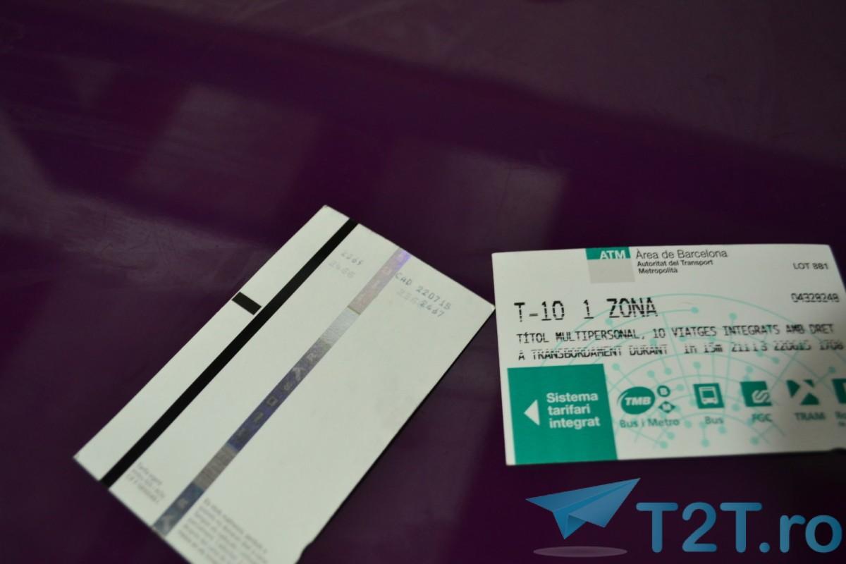 Bilet Metrou Barcelona multipersonal