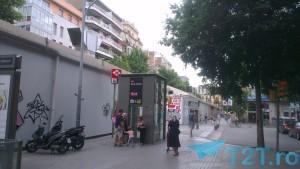 lift pentru coborarea la metrou, statia Sant Antoni, cartier El Raval