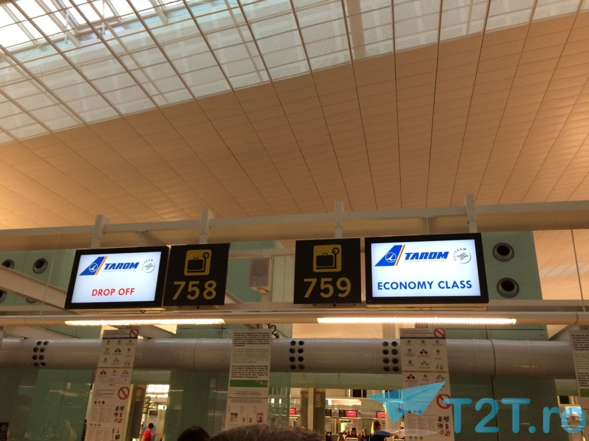 Ghisee check-in TAROM Barcelona