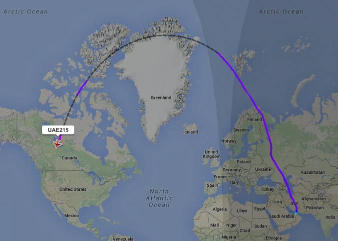 UAE215 Flight