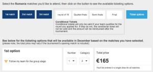 extragere bilete meci romania euro
