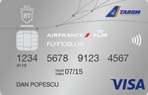 Cardul de credit BT Flying Blue cu beneficii in programul Flying Blue