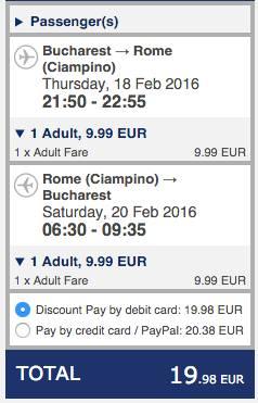 bucuresti roma ryanair 20 eur