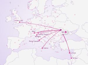 harta destinatii wizz air iasi