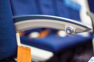 Buton rabatare pe avion Boeing 787 KLM
