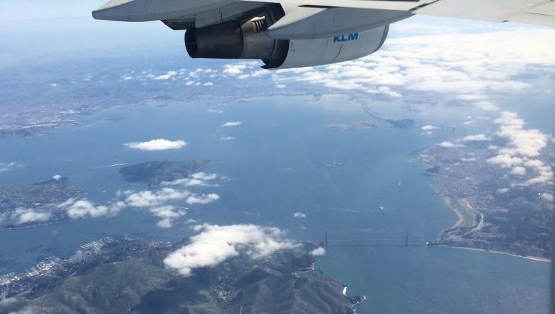 San Francisco din avion
