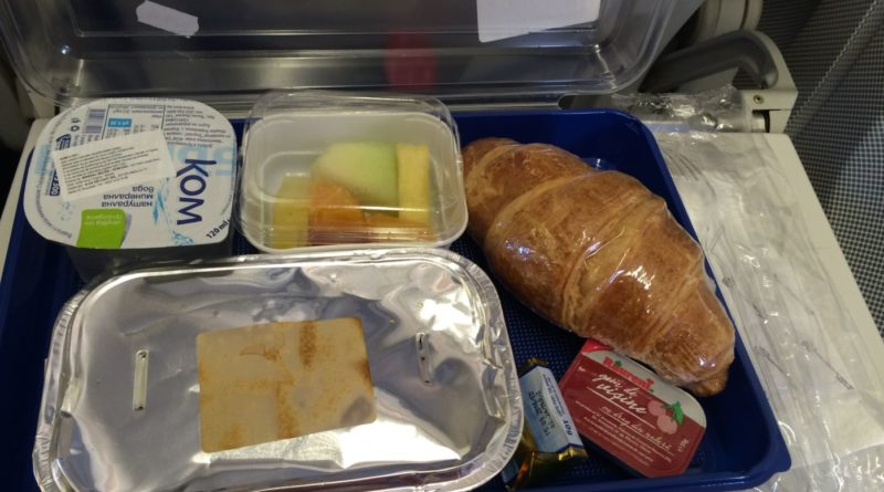 Meniu mic dejun Blue Air