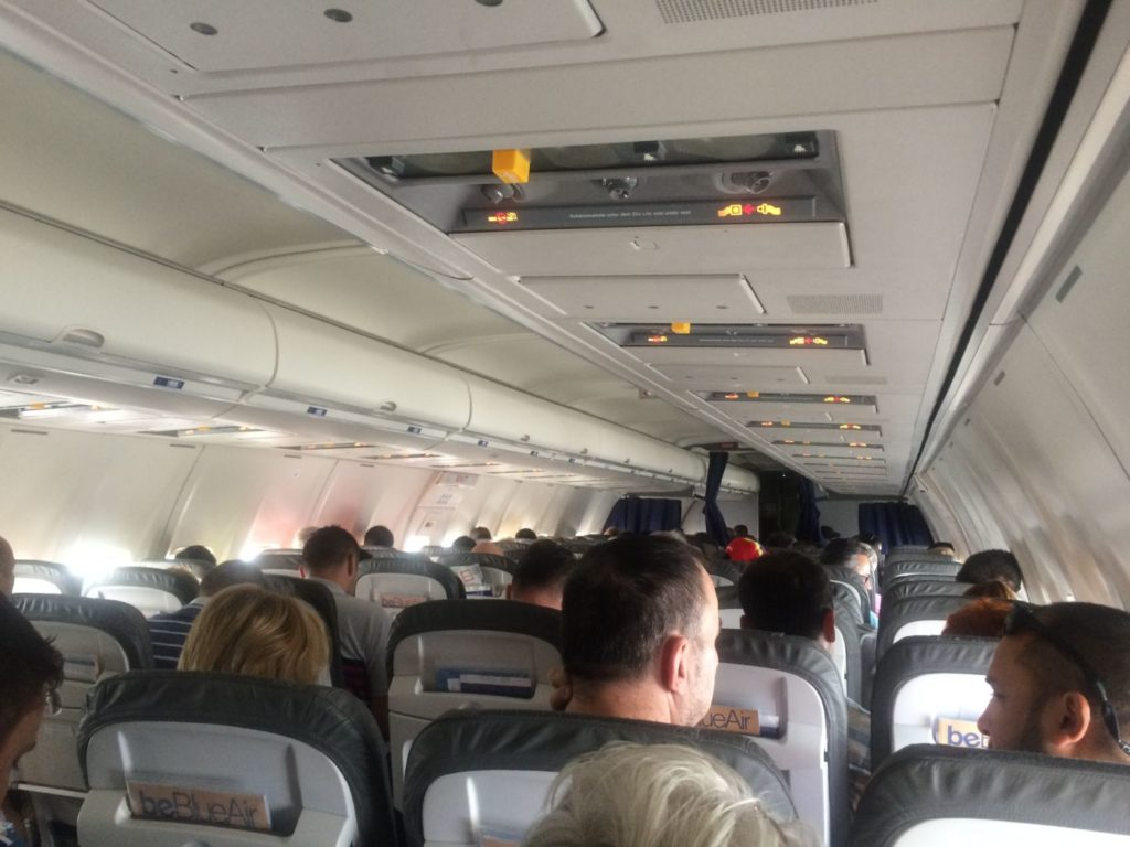 Interior Boeing 737-500 Blue Air