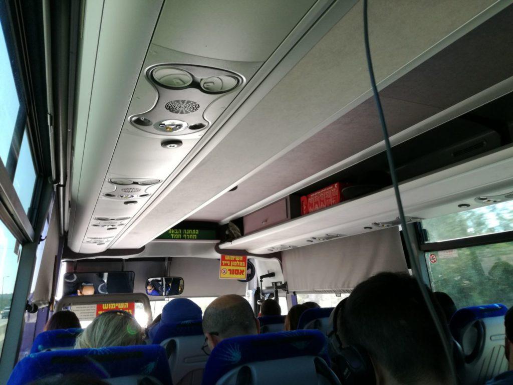 Interior Autobuz 480 Tel Aviv - Ierusalim