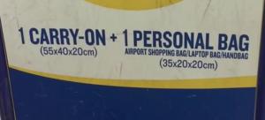 Politică bagaje Ryanair (2017)