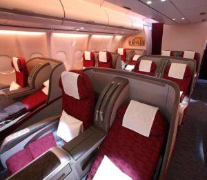 qatar scaune business class