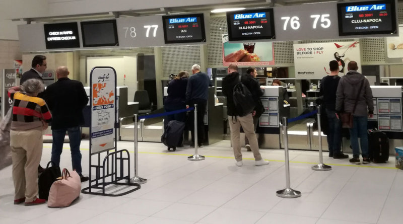 Checkin zboruri interne Blue Air Aeroport Otopeni Bucuresti