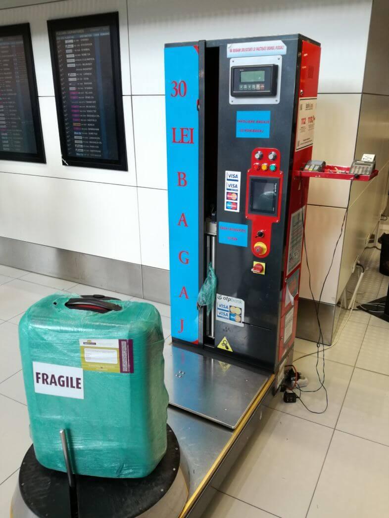 Infoliere Bagaje Aeroport Henri Coanda Otopeni - Bucuresti - Pret 30 lei/bagaj - Terminal Plecări