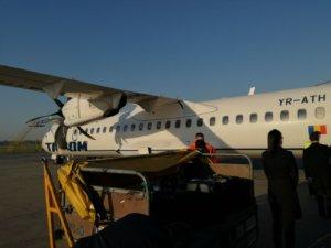 Îmbarcare în TAROM ATR 72-500 București - Sofia RO291
