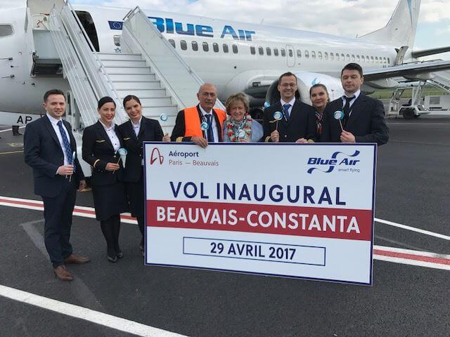 Inaugurare zbor Paris Beauvais - Constanța Blue Air