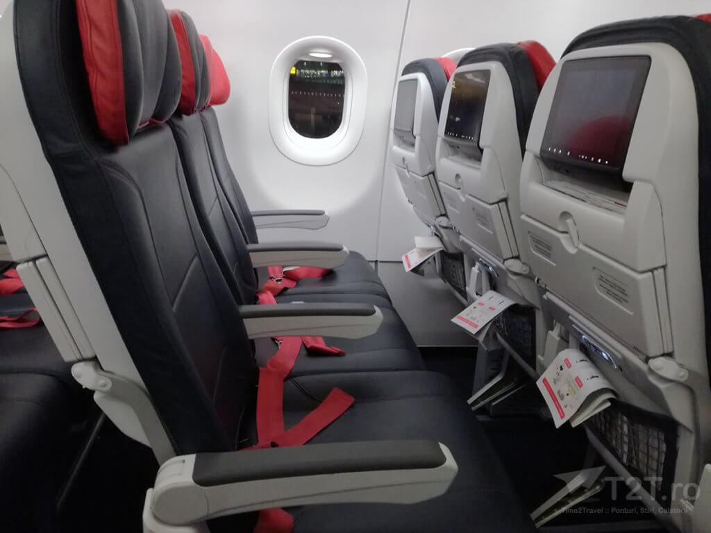 Scaune economy class Turkish Airlines - Airbus A321