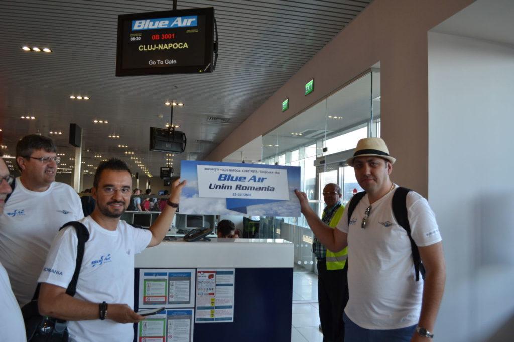 Plecare spre Cluj Napoca zbor Blue Air