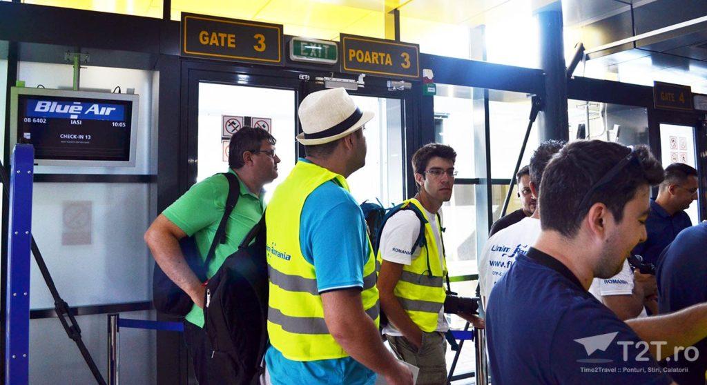 Poartă îmbarcare Aeroport Timișoara Blue Air - Iași