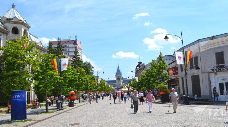 Zona Pietonala spre Palatul Culturii din Iași