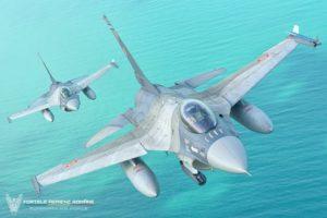 F-16 Forțele Aeriene Române deasupra Mării Negre