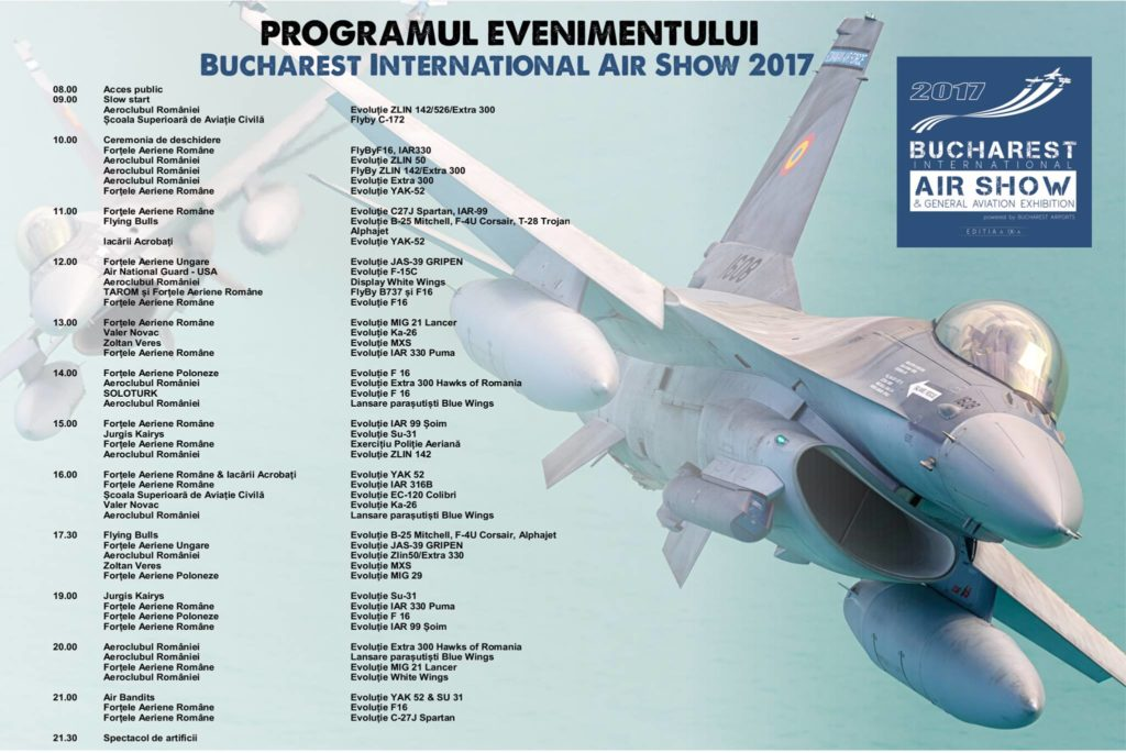 Program BIAS 2017 - Bucharest International Air Show 2017