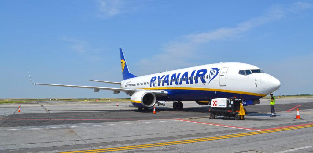 Aeronavă Boeing 737-800 Ryanair pe Aeroportul Timișoara - 2017
