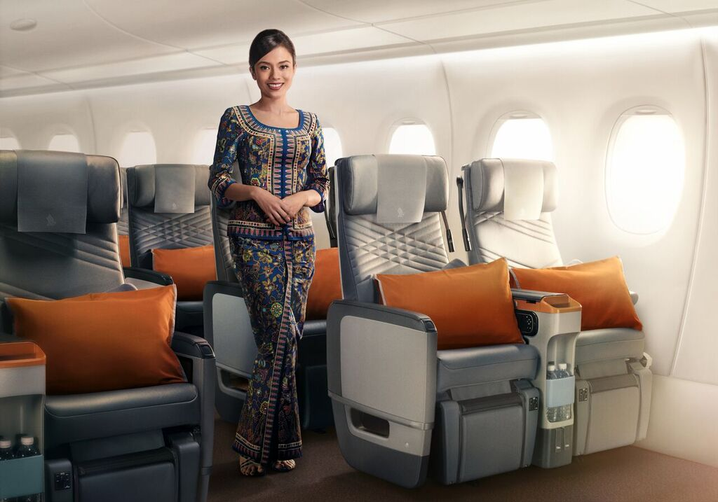 Premium Economy Class Singapore Airlines a350-ulr