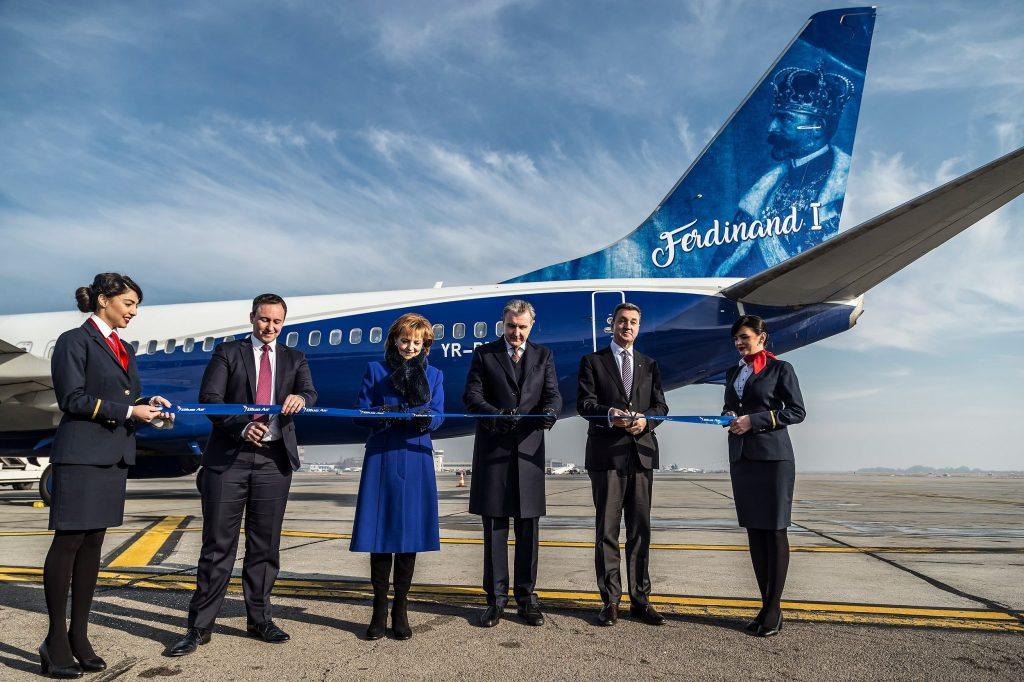 Aeronava Blue Air cu chipul lui Ferdinand I