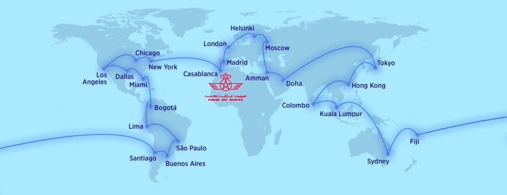Bazele operaționale (huburi) ale companiilor aeriene din alianța oneworld