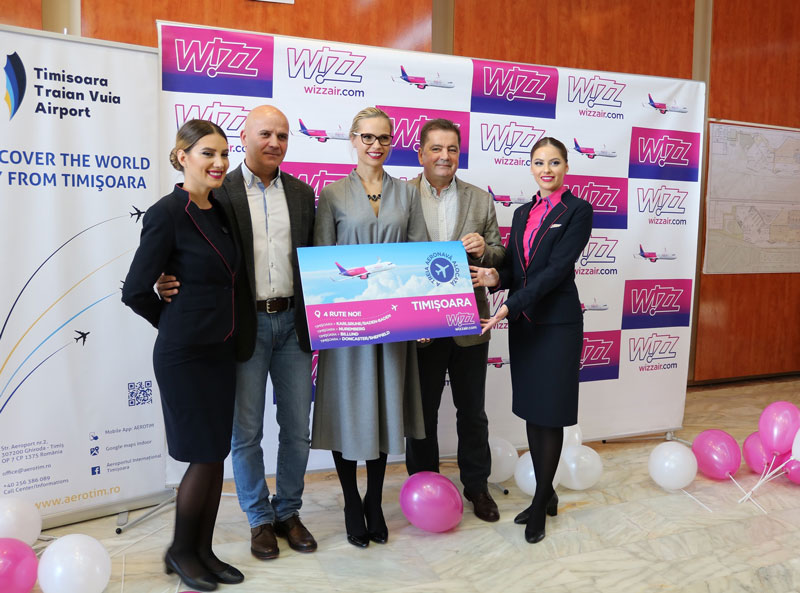 Wizz Air extinde din septembrie numărul de zboruri de la Timișoara