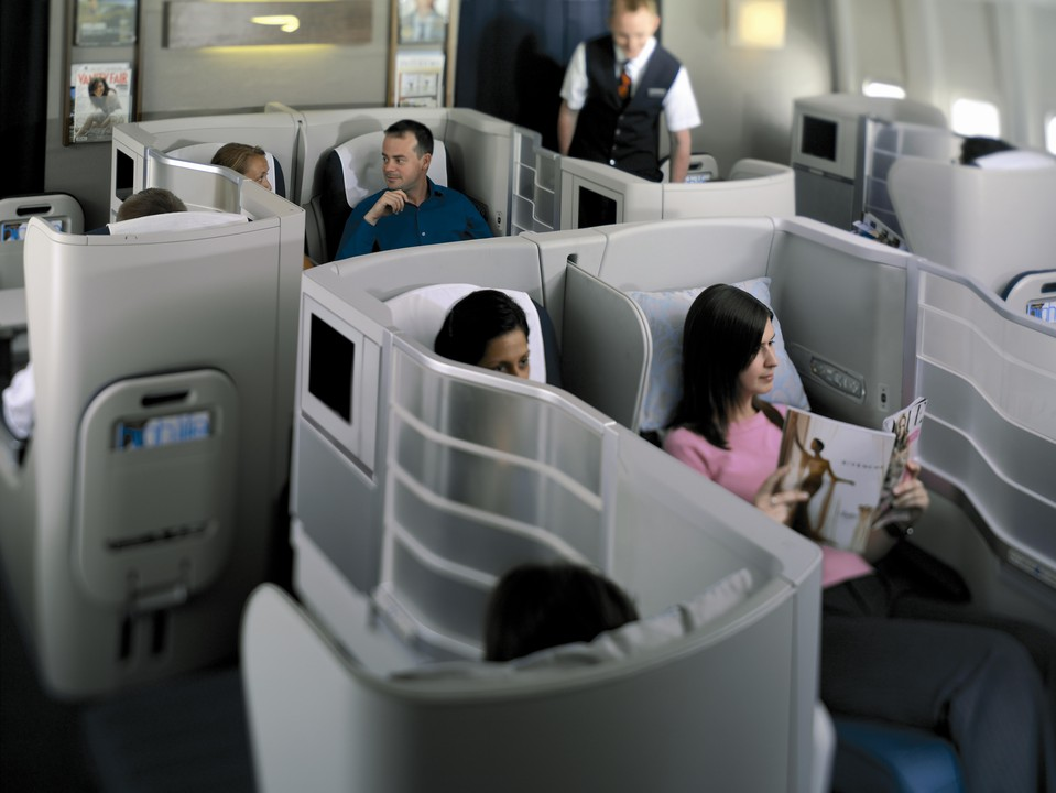Actuala cabină Club World (Business Class) British Airways