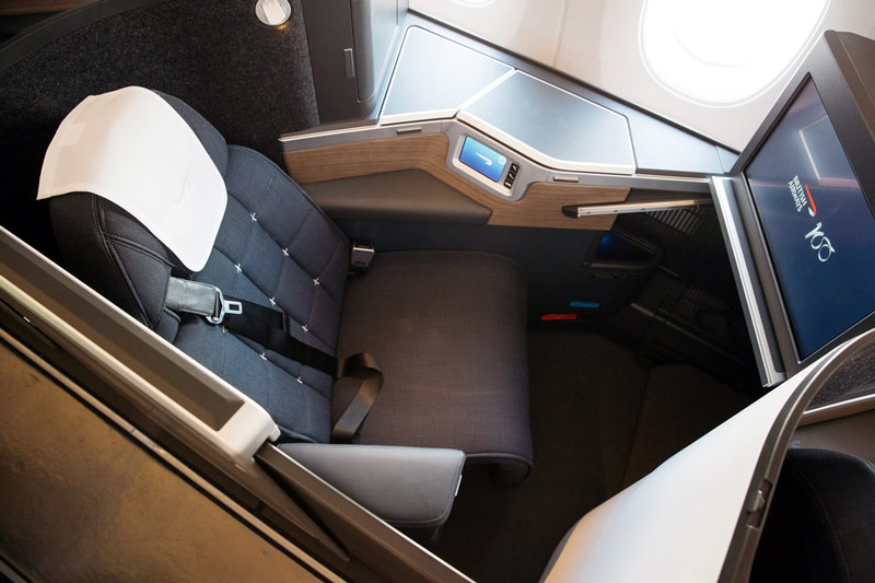 Scaunul din clasa business (Club World) British Airways - Airbus A350