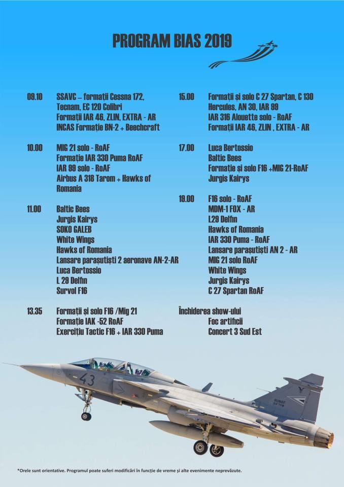 Programul BIAS 2019 - Showul aerian București